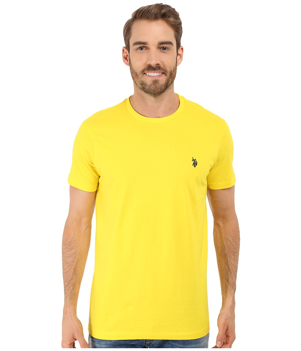 U.S. POLO ASSN. - Crew Neck Small Pony T-Shirt (Laser Yellow) Men's Short Sleeve Pullover