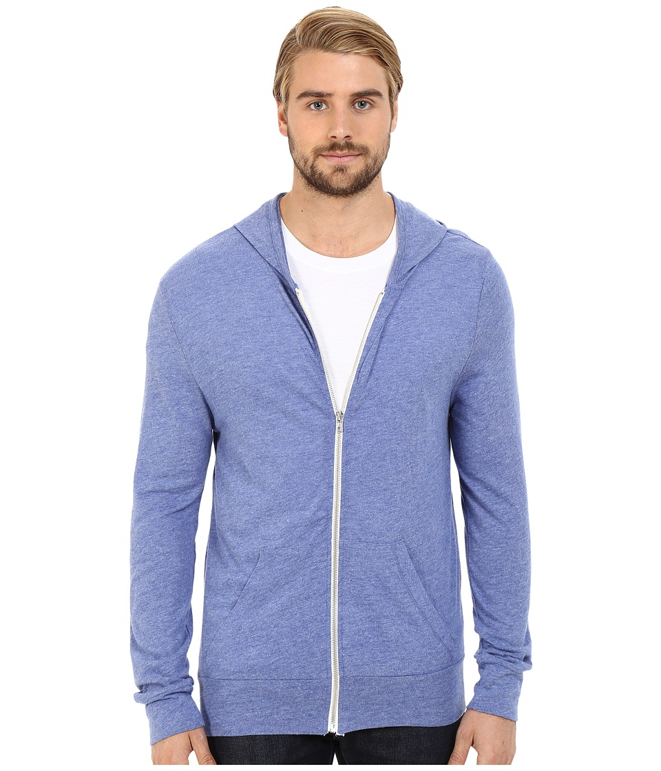 Alternative - L/S Zip Hoodie (Eco Pacific Blue) Men's Sweatshirt