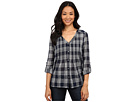 DKNY Jeans Cotton Gauze Plaid Shirt