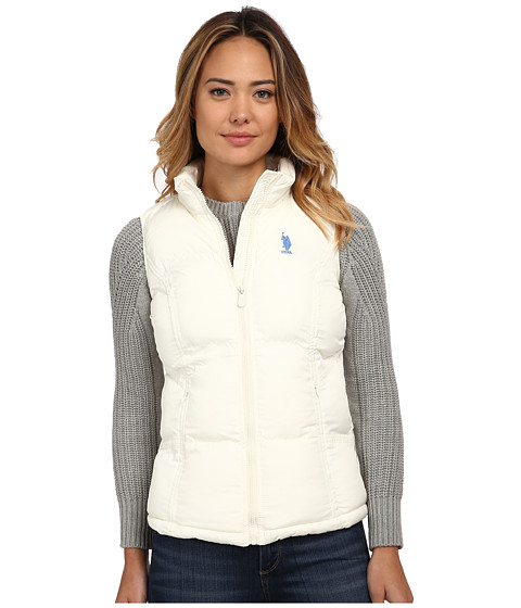 U.S. POLO ASSN. - Basic Vest with Small Pony Logo (Oat) Women's Vest