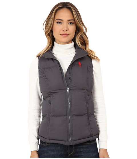 U.S. POLO ASSN. - Basic Vest with Small Pony Logo (New Grey) Women