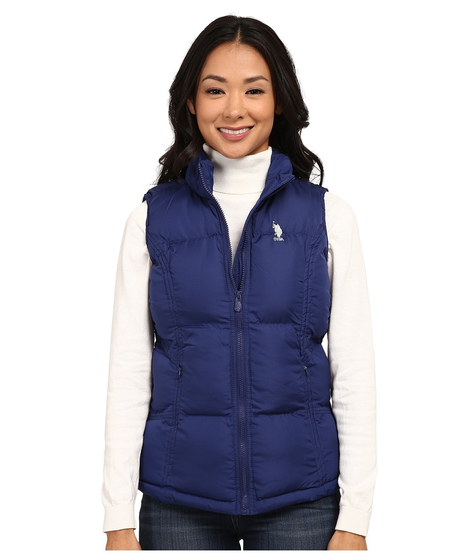 U.S. POLO ASSN. - Basic Vest with Small Pony Logo (Blue Print) Women's Vest