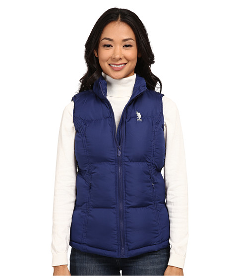 U.S. POLO ASSN. - Basic Vest with Small Pony Logo (Blue Print) Women