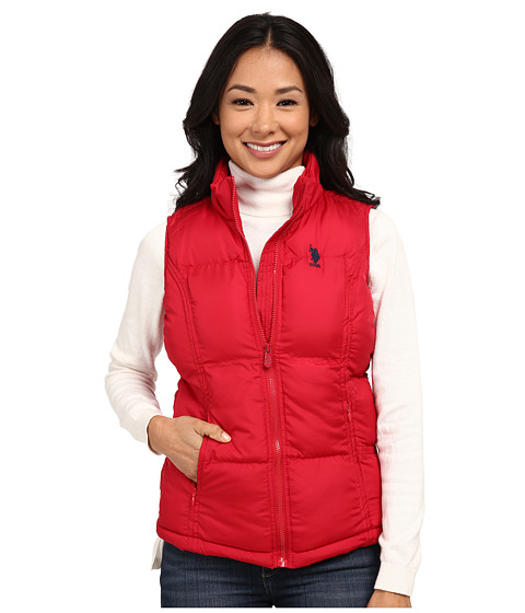 U.S. POLO ASSN. - Basic Vest with Small Pony Logo (Crimson) Women