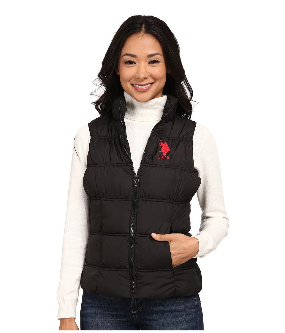 U.S. POLO ASSN. - Basic Princess Seamed Puffer Vest (Black) Women's Vest