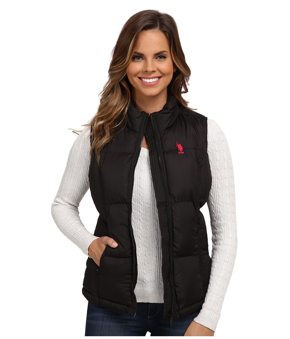 U.S. POLO ASSN. - Basic Vest with Small Pony Logo (Black) Women