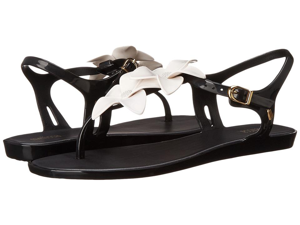 Melissa Shoes - Solar Garden II AD (Black/White) Women's Sandals