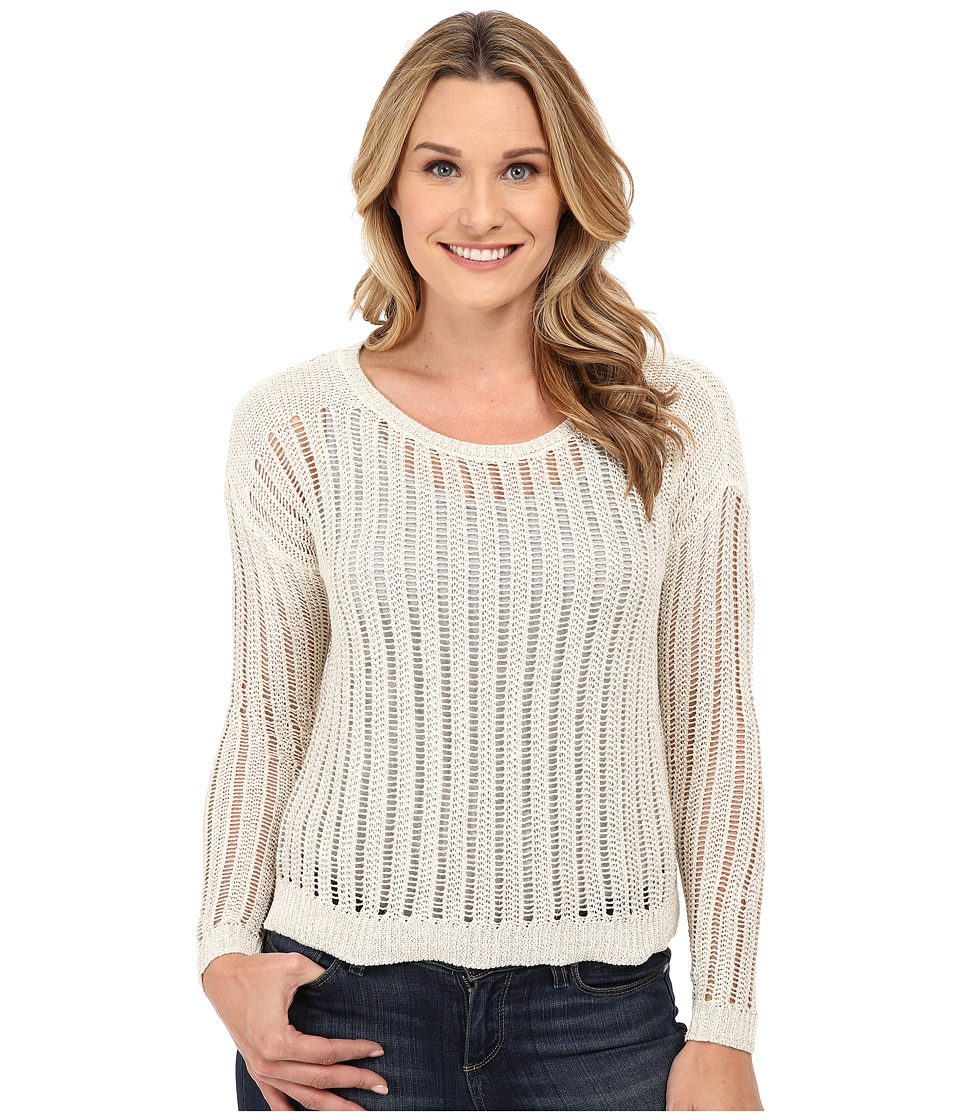 DKNY Jeans - Crochet Stitch Shine Pullover (Polar Cream) Women