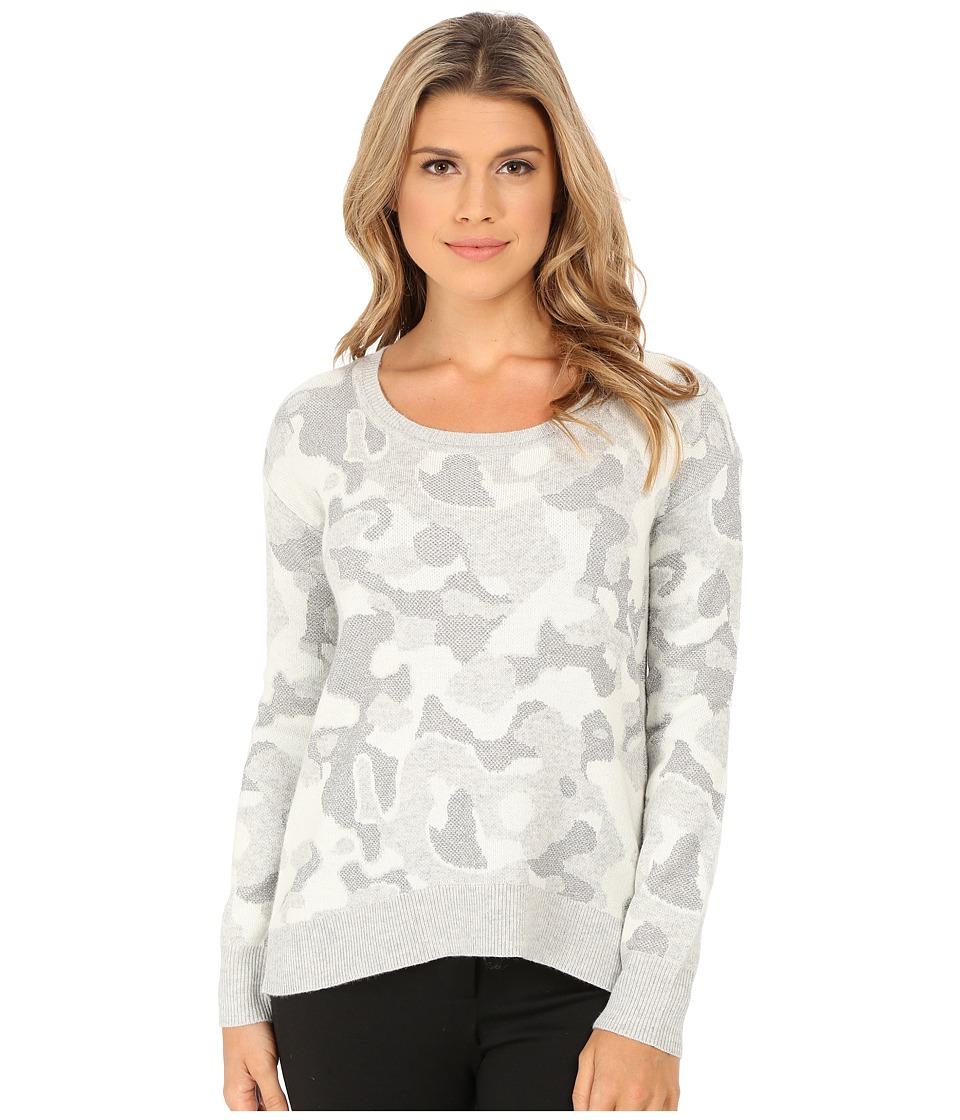 DKNY Jeans - Camo Lurex Pullover (Smoke) Women's Sweater