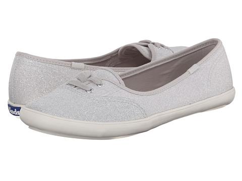 Keds - Teacup Glitter (Silver) Women's Slip on Shoes
