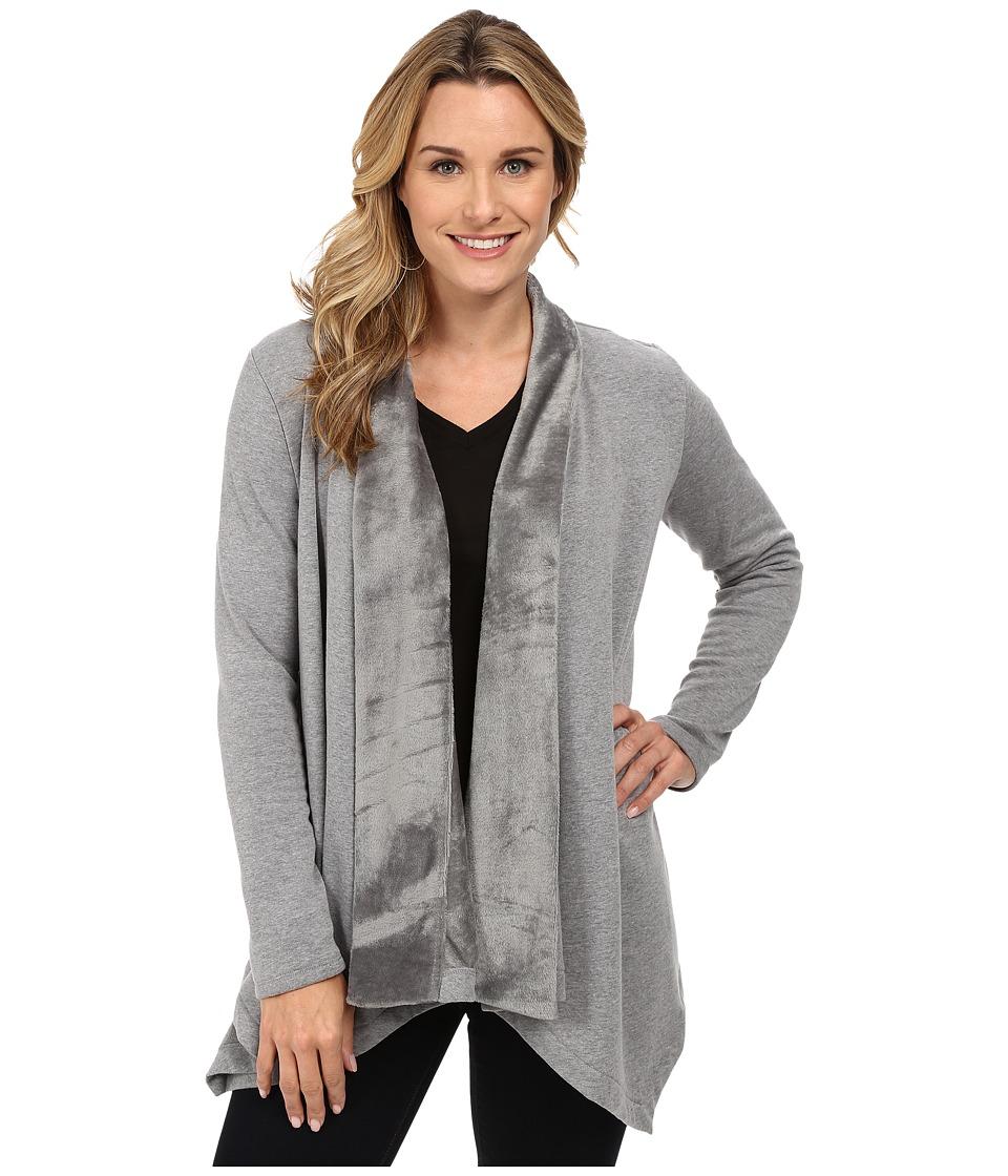 DKNY Jeans - Bonded Fleece Cozy (Smoke Grey Heather) Women's Sweater