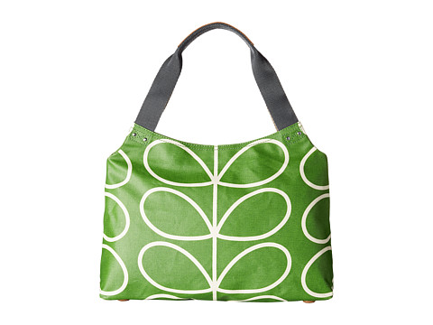 Orla Kiely - Matt Laminated Giant Linear Stem Print Classic Zip Shoulder Bag (Apple) Shoulder Handbags
