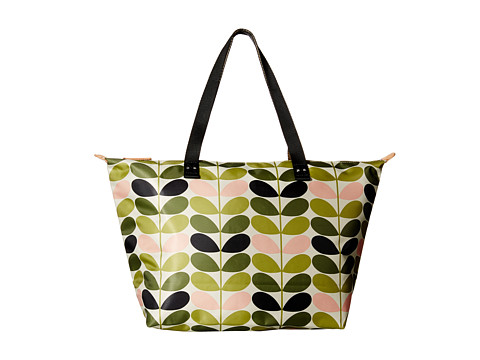 Orla Kiely - Tonal Stem Printed Zip Shopper (Foliage) Handbags