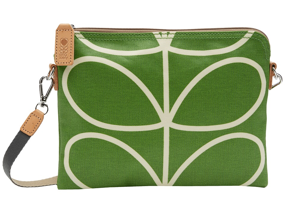 Orla Kiely - Matt Laminated Giant Linear Stem Print Travel Pouch (Apple) Travel Pouch