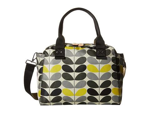 Orla Kiely - Tonal Stem Printed Zip Handbag (Storm) Handbags