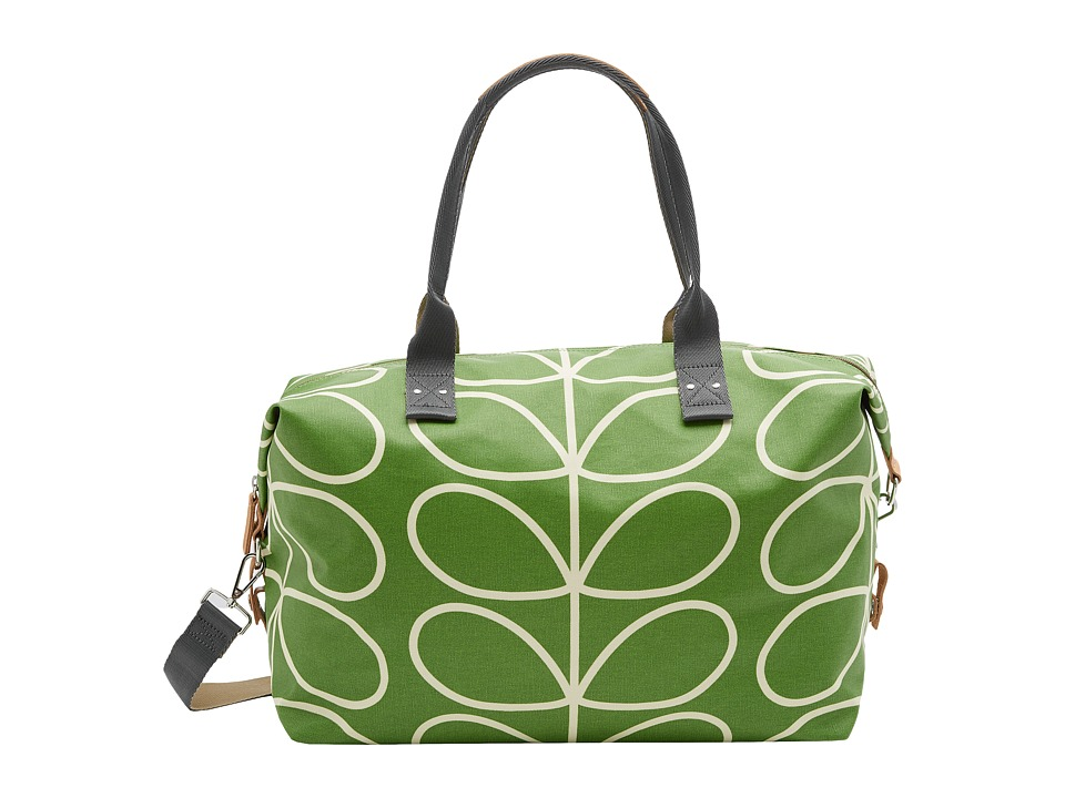 Orla Kiely - Matt Laminated Giant Linear Stem Print Zip Holdall (Apple) Duffel Bags