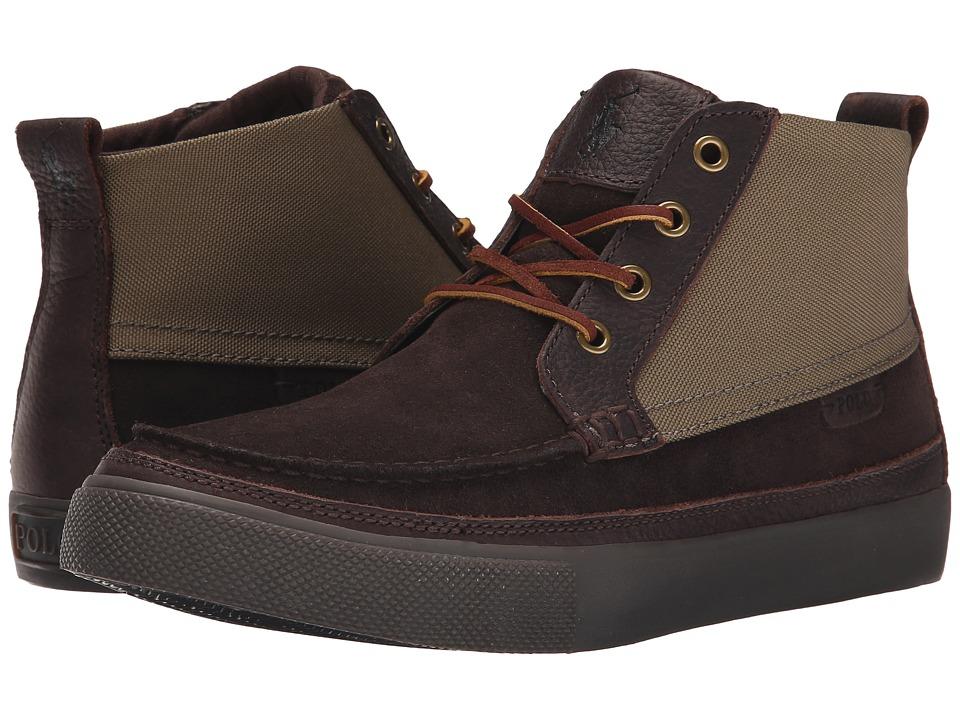 Polo Ralph Lauren - Tomas (Dark Brown/Olive Sport Suede/Cordura) Men's Lace-up Boots