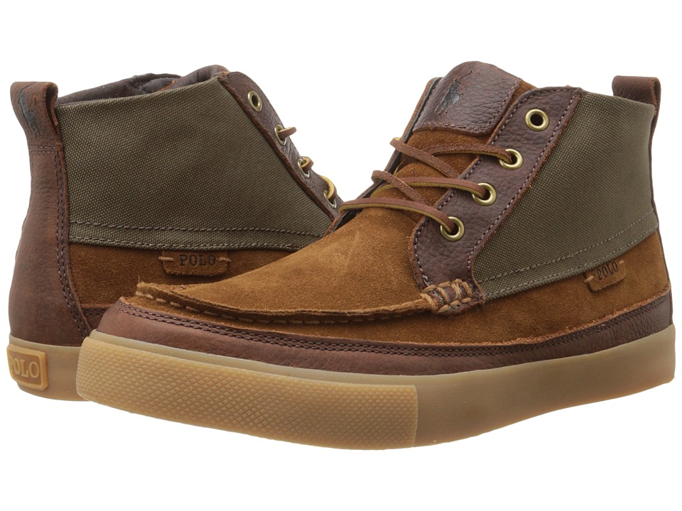 Polo Ralph Lauren - Tomas (New Snuff/Dark Khaki Sport Suede/Cordura) Men's Lace-up Boots