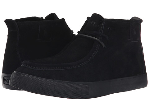 Polo Ralph Lauren - Tron (Black Sport Suede) Men's Lace-up Boots
