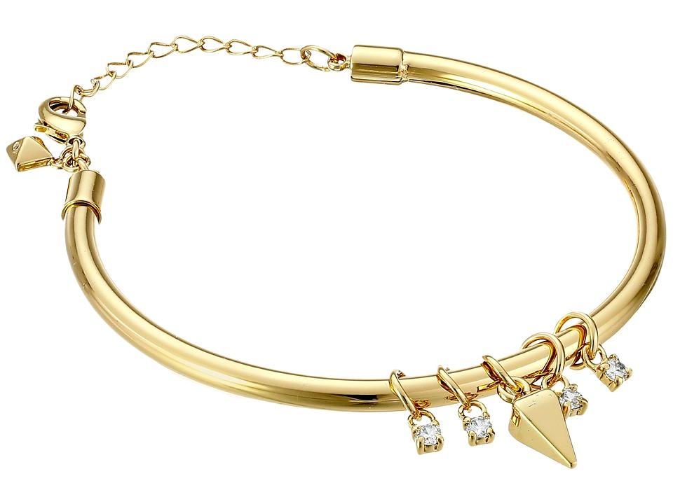 Rebecca Minkoff - Crystal Four Stone Bracelet (Gold Toned/Crystal) Bracelet