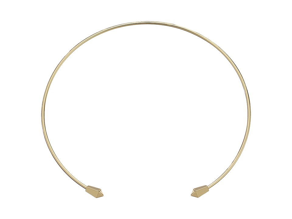 Rebecca Minkoff - Two Pyramid Collar Necklace (Gold Toned) Necklace