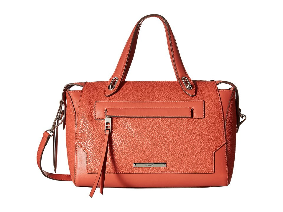 Nine West - Seamingly Attached Medium Satchel (Indian Coral) Satchel Handbags