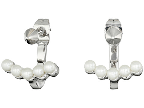 Rebecca Minkoff - Two Part Pearl Earrings (Imitation Rhodium/Pearl) Earring
