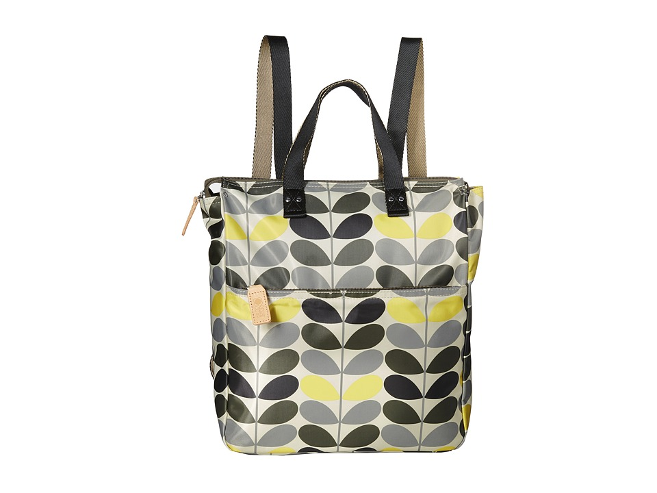 Orla Kiely - Tonal Stem Printed Backpack (Storm) Backpack Bags