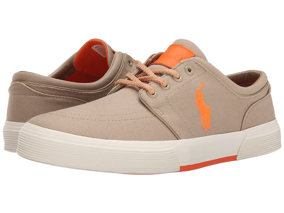 Polo Ralph Lauren - Faxon Low (Khaki/Exotic Orange Canvas) Men's Lace up casual Shoes