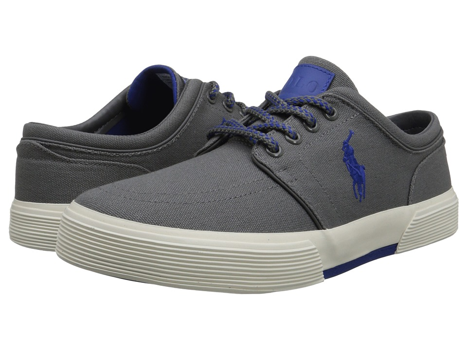 Polo Ralph Lauren - Faxon Low (Charcoal Grey/Sapphire Star Canvas) Men's Lace up casual Shoes