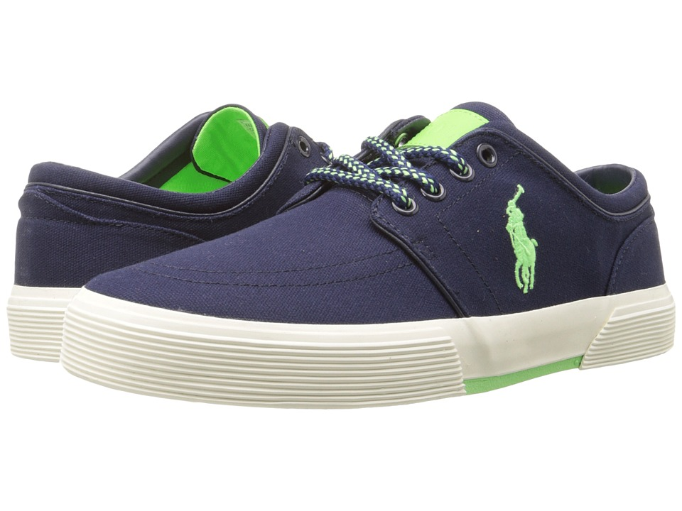 Polo Ralph Lauren - Faxon Low (Newport Navy/Ultra Lime Canvas) Men