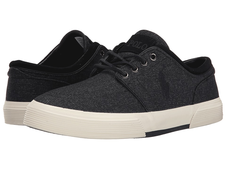 Polo Ralph Lauren Faxon Low (Black Heathered Nylon) Men