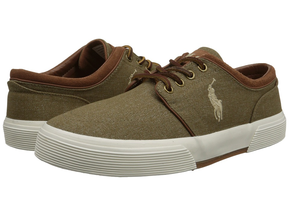 Polo Ralph Lauren - Faxon Low (Khaki Heathered Nylon) Men's Lace up casual Shoes