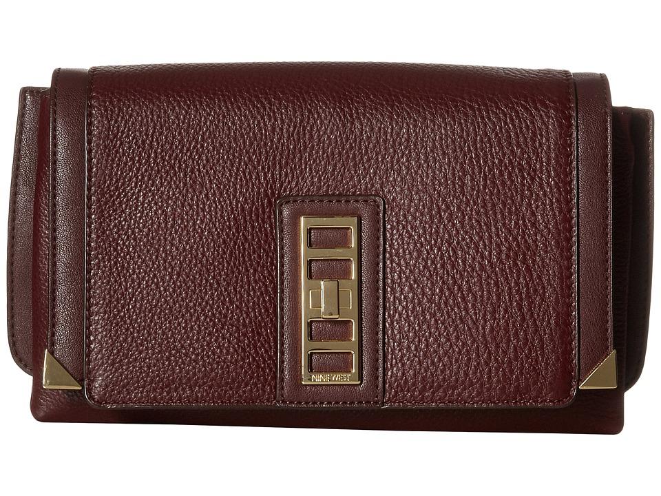 Nine West - City Chic Medium Joyc (Mahogany) Handbags