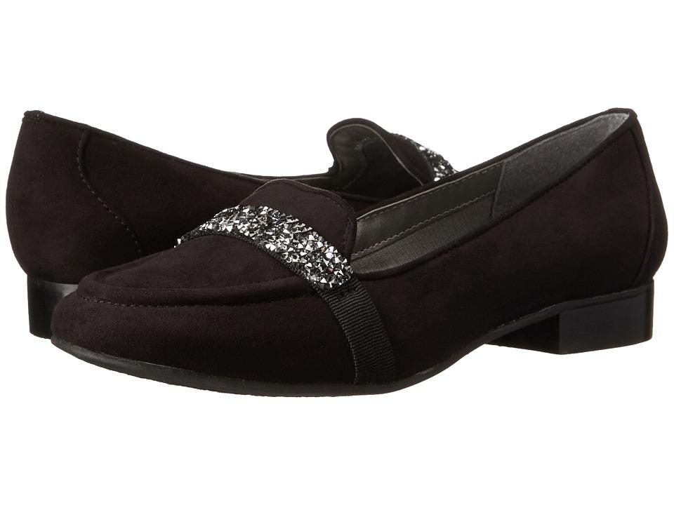 Image of Ann Marino - Kara (Black Plush) Women's Slip on Shoes