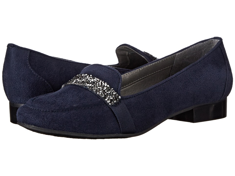 Image of Ann Marino - Kara (Indigo Plush) Women's Slip on Shoes