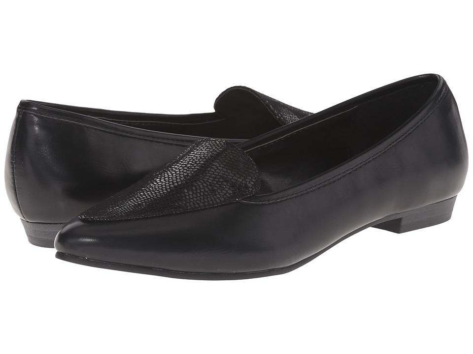 Image of Ann Marino - Sadie (Black Smooth) Women's Slip on Shoes