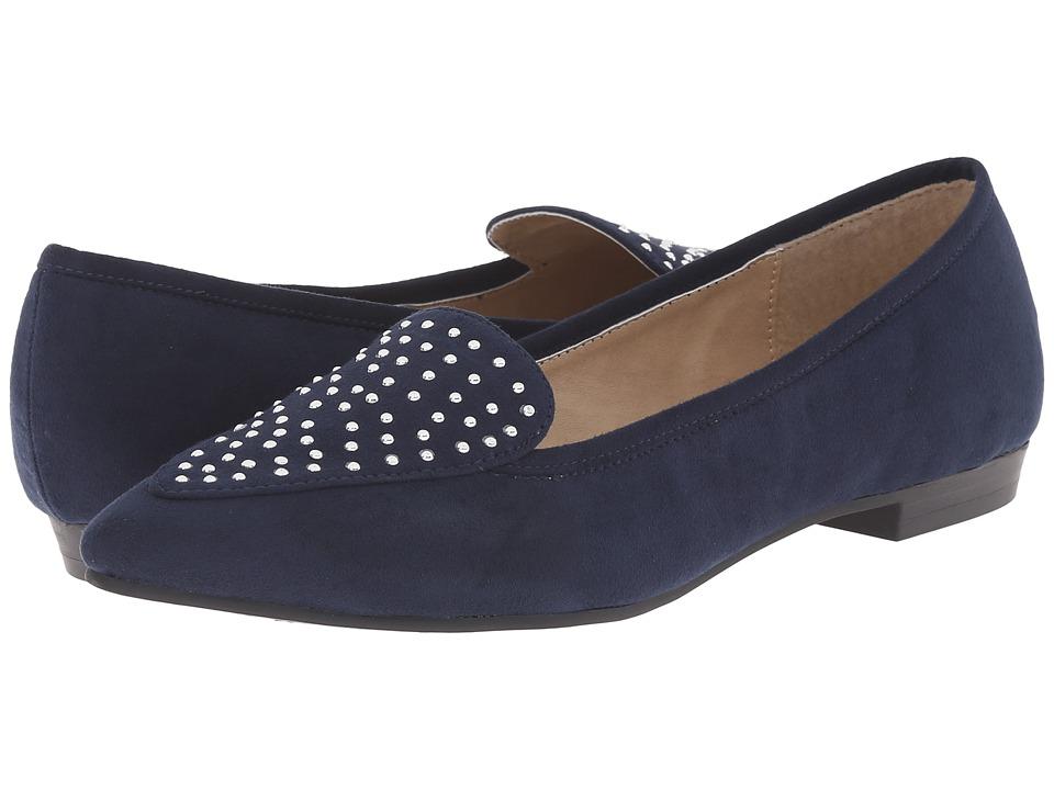 Image of Ann Marino - Scala (Navy Plush) Women's Slip on Shoes