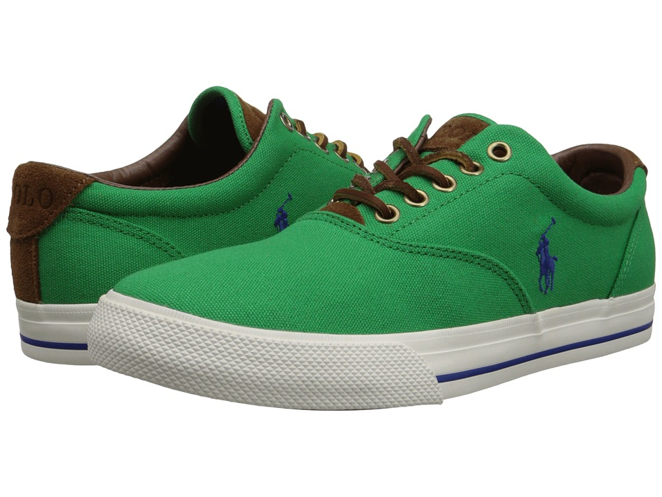Polo Ralph Lauren - Vaughn (Flag Green Canvas/Sport Suede) Men's Lace up casual Shoes