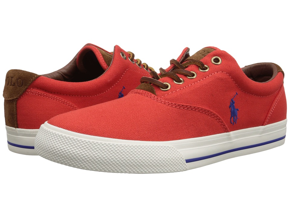 Polo Ralph Lauren - Vaughn (Maritime Orange Canvas/Sport Suede) Men's Lace up casual Shoes