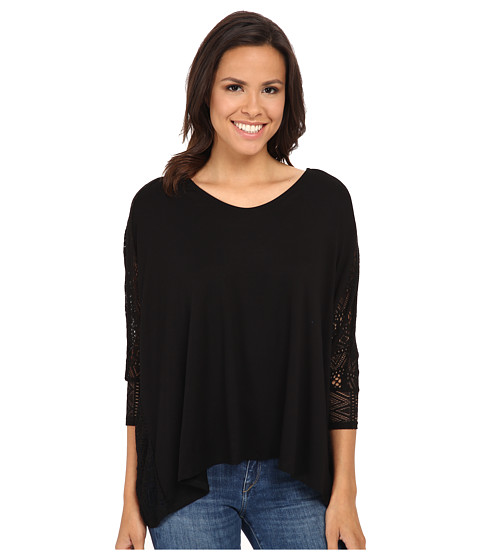 Gabriella Rocha - Kay 3/4 Sleeve Top (Black) Women's Clothing