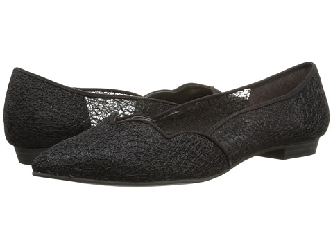 Ann Marino - Strait (Black Lace Mesh) Women's Slip on Shoes