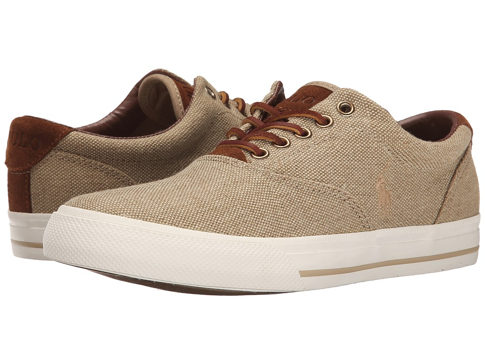 Polo Ralph Lauren - Vaughn (Tan Vintage Burlap/Sport Suede) Men's Lace up casual Shoes