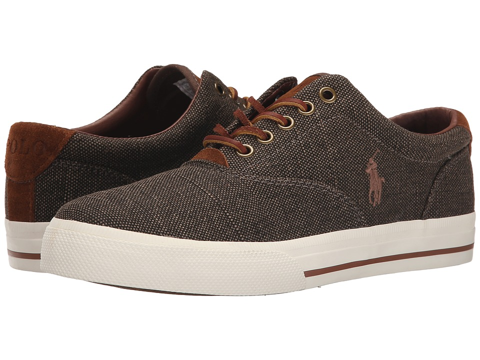 Polo Ralph Lauren - Vaughn (Brown Vintage Burlap/Sport Suede) Men's Lace up casual Shoes