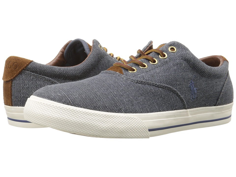 Polo Ralph Lauren - Vaughn (Dark Chambray Vintage Burlap/Sport Suede) Men's Lace up casual Shoes