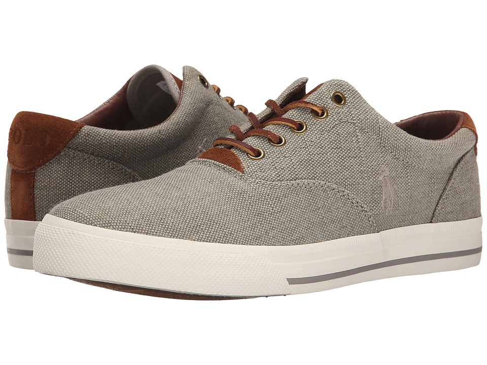 Polo Ralph Lauren - Vaughn (Grey Vintage Burlap/Sport Suede) Men's Lace up casual Shoes