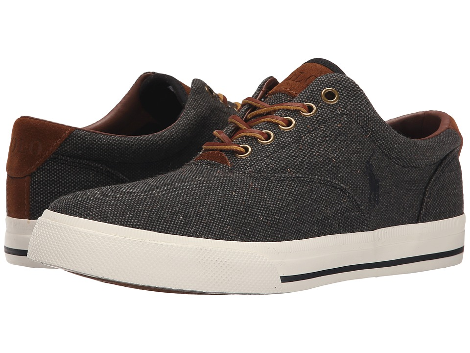 Polo Ralph Lauren - Vaughn (Black Vintage Burlap/Sport Suede) Men's Lace up casual Shoes
