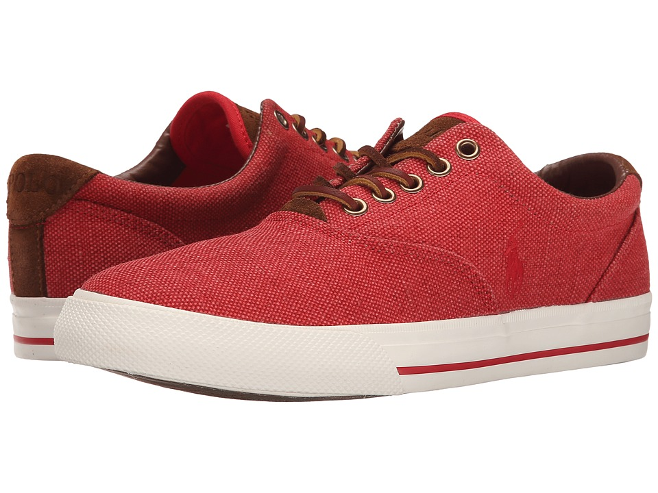 Polo Ralph Lauren - Vaughn (RL2000 Red Vintage Burlap/Sport Suede) Men's Lace up casual Shoes