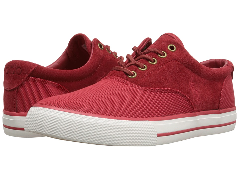 Polo Ralph Lauren - Vaughn Saddle (RL2000 Red Pique Nylon/Sport Suede) Men's Lace up casual Shoes