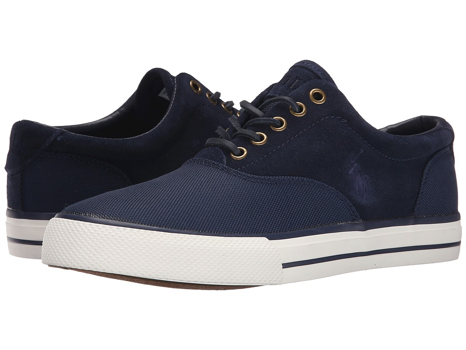 Polo Ralph Lauren - Vaughn Saddle (Newport Navy Pique Nylon/Sport Suede) Men's Lace up casual Shoes